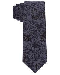 Calvin Klein | Blue Bandana Paisley Skinny Tie for Men | Lyst