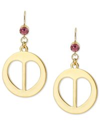 Betsey Johnson | Metallic Heart And Lips Medallion Drop Earrings | Lyst