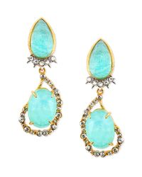 Alexis Bittar | Green Gilded Muse Dore Pear/oval Clip-on Earrings | Lyst
