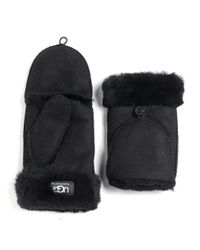 UGG | Black Ladies Shearling Flip Mittens | Lyst
