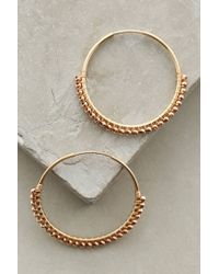 Anthropologie - Metallic Magdalena Hoops - Lyst