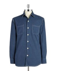 Tommy Bahama | Blue New Seaside Flannel Sportshirt for Men | Lyst