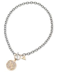 Guess | Metallic Two-Tone Quatro G Necklace | Lyst