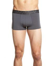 Naked - Gray 'signature' Modal & Cotton Trunks for Men - Lyst