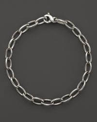 Ippolita - Metallic Sterling Silver Small Oval Link Charm Bracelet - Bloomingdale'S Exclusive - Lyst