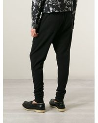 Haider Ackermann - Black Tapered Trousers for Men - Lyst