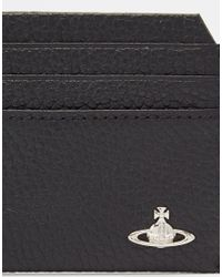 Vivienne Westwood - Black Leather Card Holder for Men - Lyst