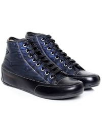 Candice cooper canape silk spot trainers in blue lyst for Canape italian shoes