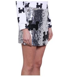 Au Jour Le Jour - Black All-over Sequins Monopoli Skirt - Lyst