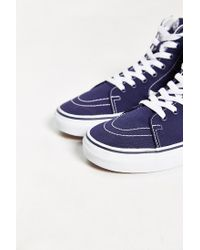 Vans | White Sk8-hi Canvas Sneaker for Men | Lyst