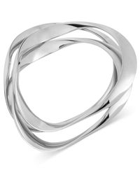 Robert Lee Morris - Metallic Silver-tone Wavy Bangle Bracelets - Lyst