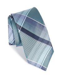 Michael Kors - Blue Plaid Silk Tie for Men - Lyst