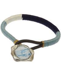George Frost - Blue Wrapped Wax Seal Bracelet for Men - Lyst