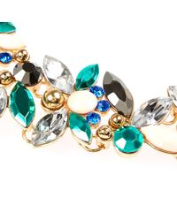 River Island | Multicolor Turquoise Gem Statement Necklace | Lyst
