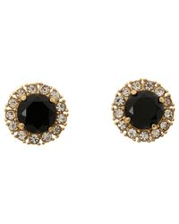 kate spade new york - Black Secret Garden Stud Earrings - Lyst