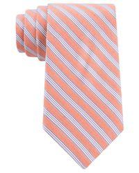 Michael Kors - Orange Summer Mini-stripe Tie for Men - Lyst