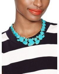 kate spade new york - Blue Color Pop Necklace - Lyst