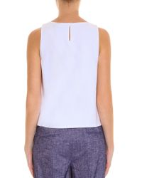 Theory - Black Crepe Top - Lyst