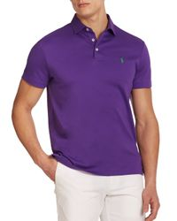 Polo Ralph Lauren - Purple Pima Soft-touch Polo for Men - Lyst
