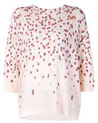 Giamba - Pink Hearts Print Sweater - Lyst