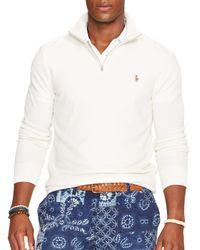 Ralph Lauren - White Polo Half-zip Pima Mockneck Pullover for Men - Lyst