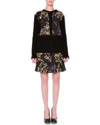 Marni - Black Floral Grid Print Button Cardigan - Lyst