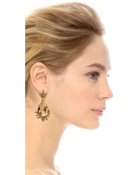 Oscar de la Renta - Metallic Crystal Earrings - Cry Gold Shadow - Lyst