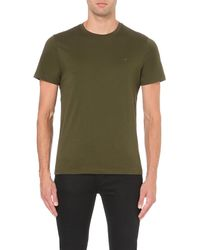 Michael Kors | Green Cotton-jersey T-shirt - For Men for Men | Lyst