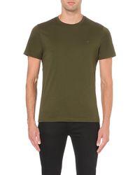Michael Kors - Green Cotton-jersey T-shirt - For Men for Men - Lyst