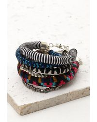 Forever 21 - Multicolor Embroidered Cord Bracelet Set - Lyst