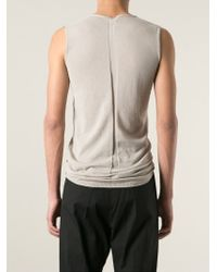 Rick Owens - Natural Round Neck Tank Top for Men - Lyst
