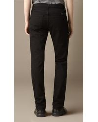 Burberry | Steadman Black Slim Fit Jeans for Men | Lyst