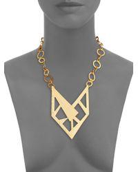 Stephanie Kantis | Metallic Contour Bib Necklace | Lyst
