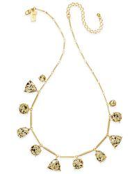 kate spade new york - Metallic Gold-tone Stone Drop Necklace - Lyst