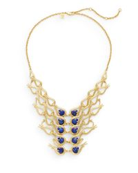Alexis Bittar - Metallic Elements Maldivian Lapis & 18k Yellow Gold Bib Necklace - Lyst