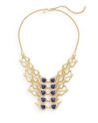Alexis Bittar | Metallic Elements Maldivian Lapis & 18k Yellow Gold Bib Necklace | Lyst