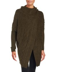 Lord & Taylor | Green Cross-front Cardigan Sweater | Lyst