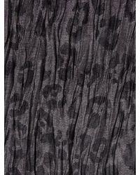 John Varvatos | Black Crinkled Leopard Scarf for Men | Lyst