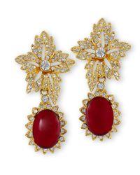 Kenneth Jay Lane   Red Ruby Drop Clip Earring   Lyst