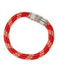 John Hardy | Red Men's Classic Chain Multicolor Cord Bracelet for Men | Lyst