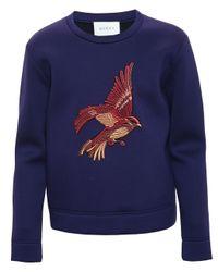 Gucci | Blue Bird Embroidered Sweatshirt for Men | Lyst