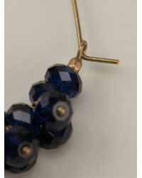 Isabel Marant - Blue Faceted Stone Earrings - Lyst