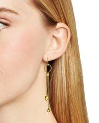 Diane von Furstenberg - Metallic Dew Drop Linear Earrings - Lyst