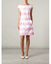 Boutique Moschino - Purple Striped Dress - Lyst