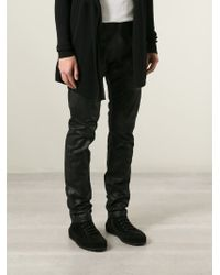 Rick Owens - Black Asymmetric Zip Trousers for Men - Lyst