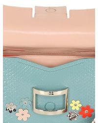 Roger Vivier - Multicolor Mini Viv Flower Leather & Python Bag - Lyst