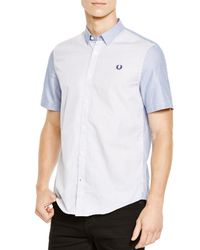 Fred Perry - Blue Mid Imperial Classic Fit Button Down Shirt for Men - Lyst