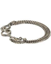 Ann Demeulemeester - Metallic Silver Curb Chain Bracelet for Men - Lyst