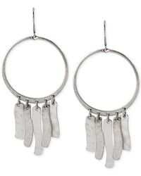 Robert Lee Morris | Metallic Silver-Tone Shaky Bead Orbital Drop Earrings | Lyst