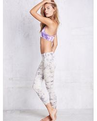 Free People | White Washed Legging | Lyst